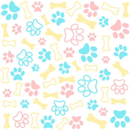 Seamless animal pattern of paw footprint Stockfoto - 106656563