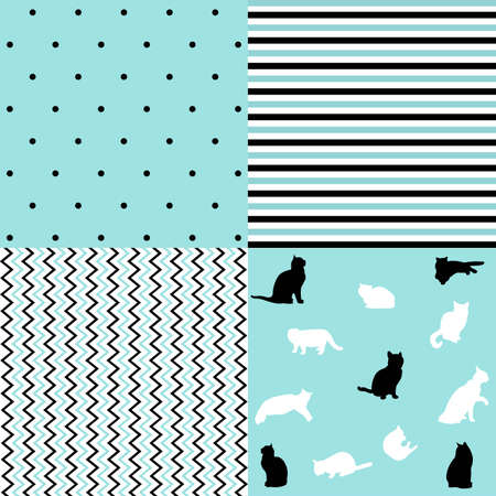 Set of creative seamless patterns and prints