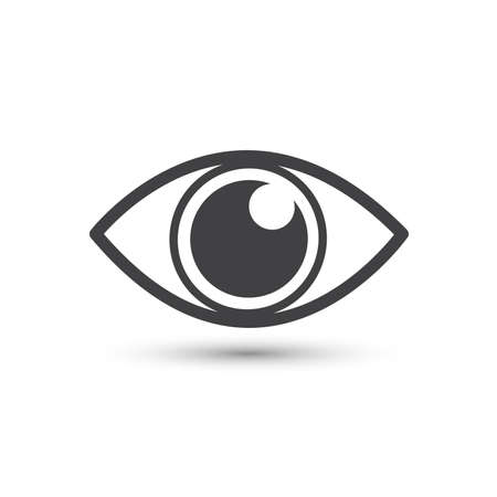 Eye icon vector symbol. Flat design style Ilustrace