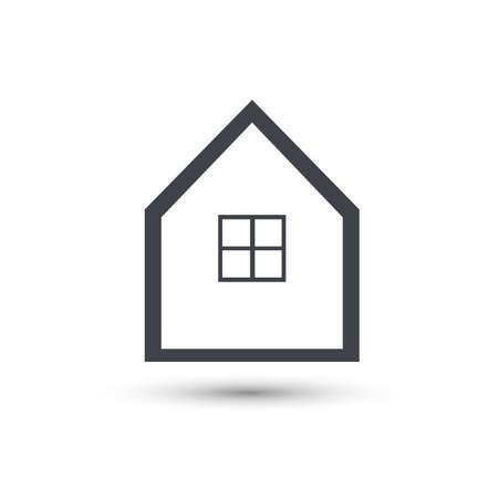 Home Vector Line Icon. House Symbol