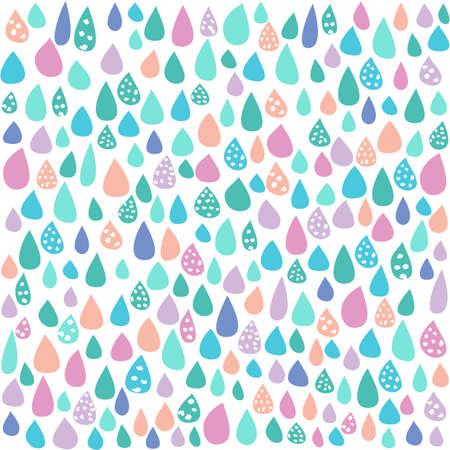 Colorful Pastel Rain White Background