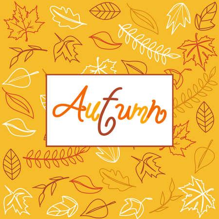 Hello Autumn. Autumn leaves background.