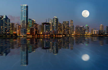 Downtown Miami Skyline, Florida, United States