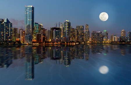 Downtown Miami Skyline, Florida, United States