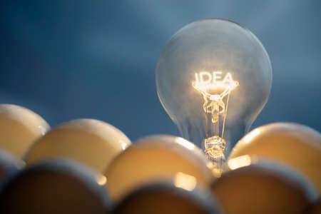 Idea and solution business concepts  Idea symbol, light bulb  photo