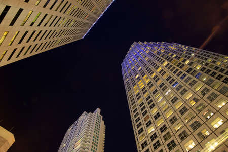 Skyward view of the Brickell area in downtown Miami at nigh time  photo