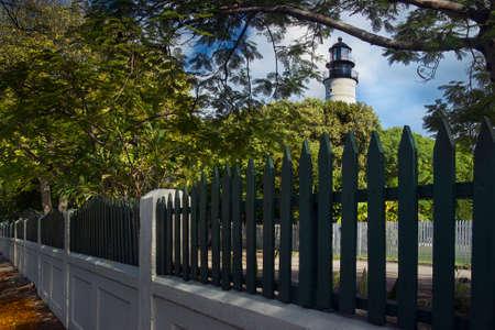hemingway: Famous Key West lighthouse across the street from Hemingway Stock Photo