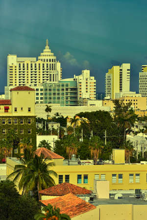 Aerial view of Miami South Beach, Florida, USA Standard-Bild