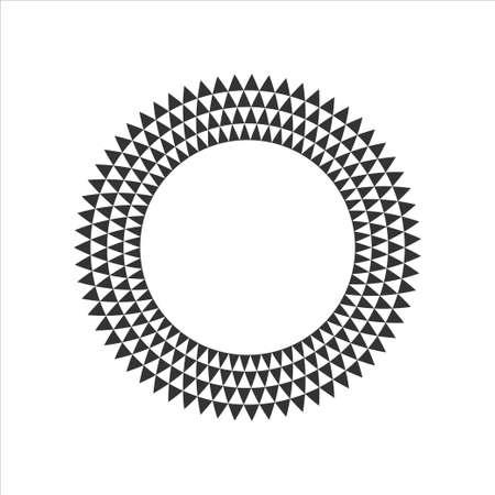 Black and White Circular Fractal Design.Digital flower.Vector illustration.