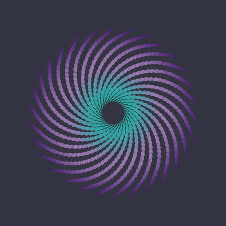 Color halftone circle. Vector abstract design element.