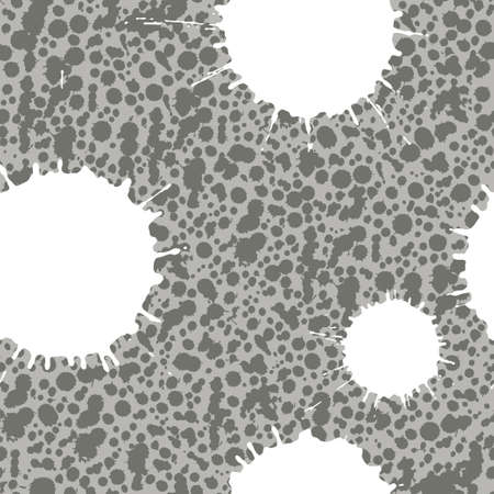 Abstract artistic paint splashes and blots seamless pattern. Hand drawn splash texture. Vector illustration.