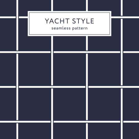 Geometric seamless pattern with crossing lines. Yacht style design. Abstract textured background design. Vector illustration for minimalistic design. Modern elegant wallpaper.