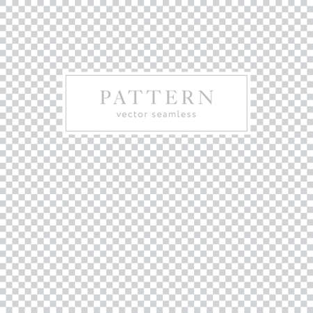 Simple geometric checkered seamless pattern. Light collection. Abstract textured background design. Vector illustration for minimalistic design. Modern elegant wallpaper.