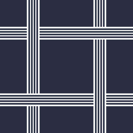 Geometric seamless pattern with crossing lines. Yacht style design. Basket texture background. Template for prints, wrapping paper, fabrics, covers, banners, posters, placards. Vector illustration.