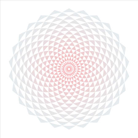 Abstract circle design element with triangular pattern