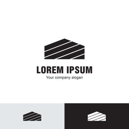 Simple line house, icon. 向量圖像