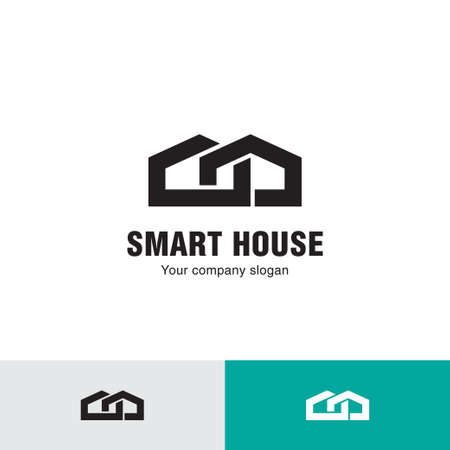 Simple line house icon.