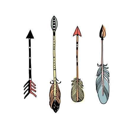 Decorative tribal arrows collection.