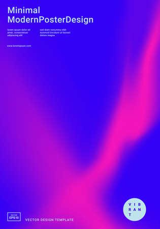 Plantilla de diseño abstracto de moda con formas de degradado vibrante de colores brillantes. Aplicable para portadas, carteles, carteles, volantes, presentaciones y pancartas. Ilustración de vector