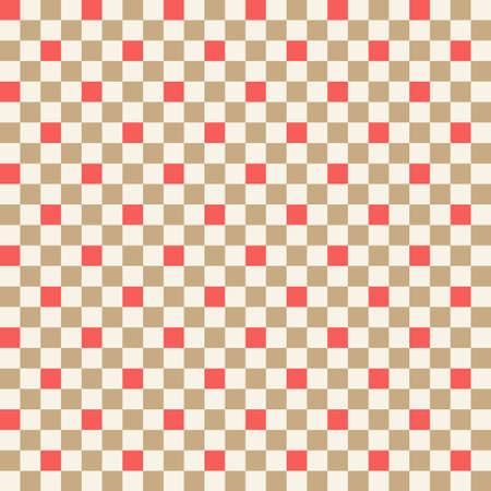Geometric checkered seamless pattern. Winter holidays collection. Merry Christmas and Happy New year. Abstract textured background design. Modern elegant wallpaper. Vector illustration.