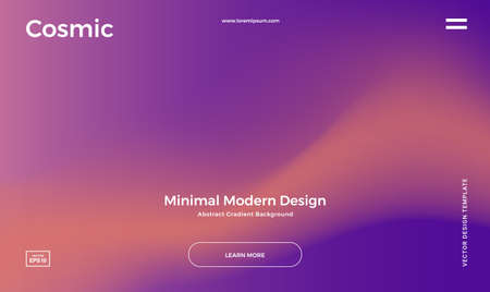 Abstract gradient background. Minimal modern design. Landing page template. Vector illustration. Eps10 Illustration
