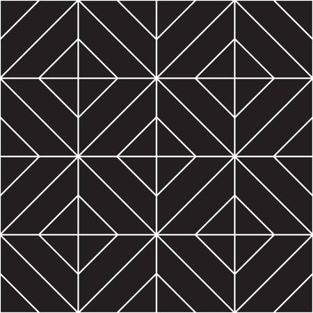 Abstract geometric seamless pattern. Black and white background design. Template for prints, wallpaper, wrapping paper, fabrics, covers, flyers, banners, posters and placards. Vector illustration.