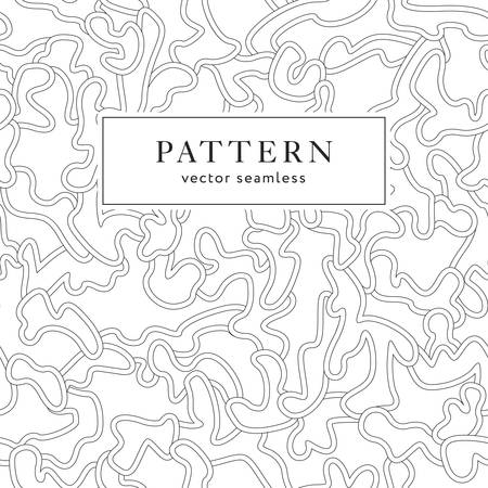 Seamless fashion pattern with curved elements. Abstract ornate texture. Vector background. Modern line ornament. Design for print, fabrics, textile, wrapping paper, wall paper, invitation cards.