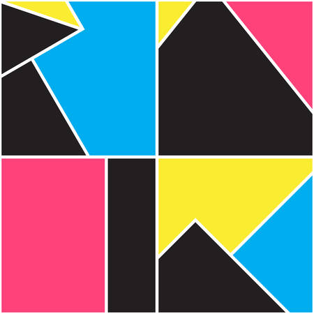 Seamless geometric pattern. Memphis design. 80s and 90s retro style. Abstract fashion background. Vector minimalistic illustration. Modern elegant wallpaper.