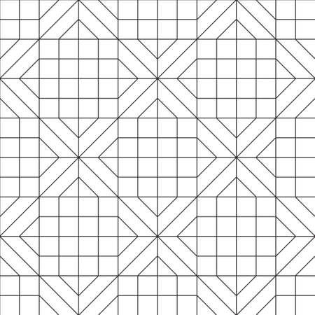 Modelo inconsútil geométrico abstracto. Diseño de fondo blanco y negro. Plantilla para impresiones, papel tapiz, papel de regalo, telas, cubiertas, volantes, pancartas, carteles y pancartas. Ilustración vectorial. Ilustración de vector