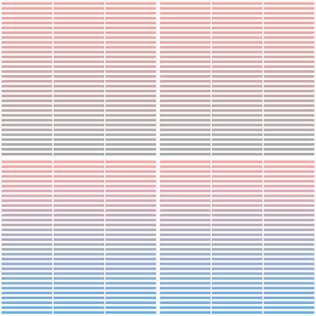 Seamless geometric pattern with horizontal stripes. Abstract gradient background design template. Vector illustration for minimalistic design. Modern elegant wallpaper. Vetores