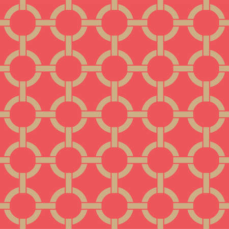Seamless winter holidays geometric pattern. Merry Christmas and Happy New Year red collection. Modern elegant wallpaper. Vector illustration.