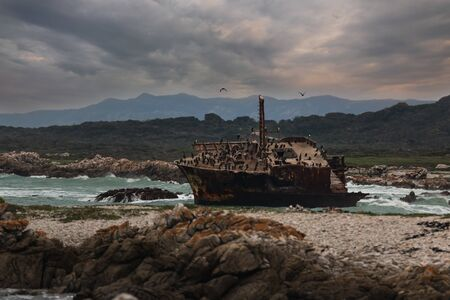 Old shipwreck at Cape Agulhas