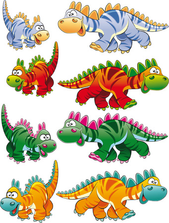 Types of dinosaurs Stock Vector - 5423313