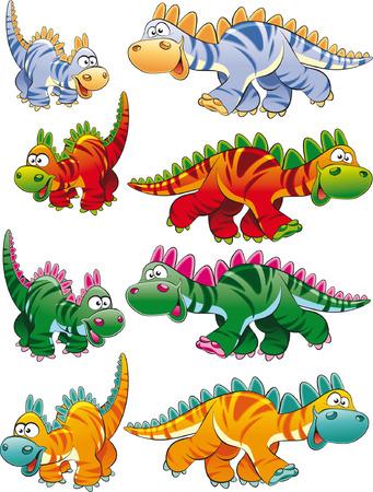family history: Types of dinosaurs Illustration