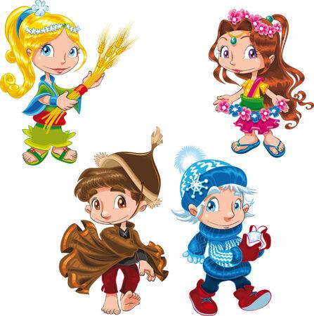 Season - Characters Stock Vector - 5423320