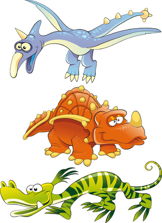 Monsters Dinosaurs Vector