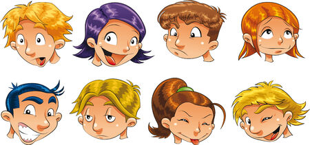 upset woman: Expressions of children Illustration