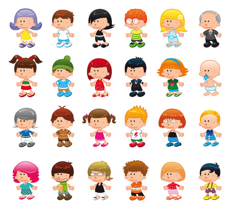 People - vector and cartoon character Stock Vector - 5427128