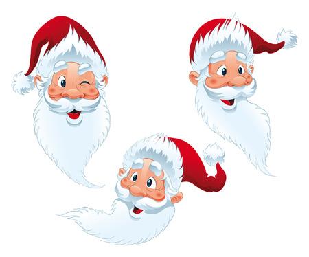 Santa Claus - expressions, vector and cartoon characters Stock Vector - 5427124
