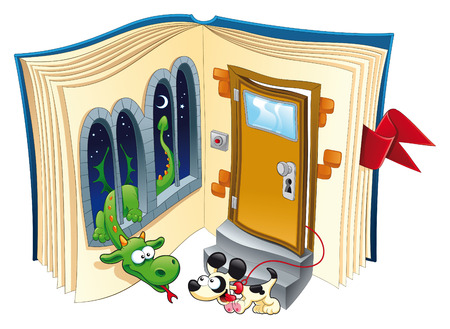 stories: story book - vector and cartoon illustration