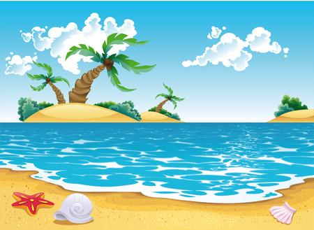 Cartoon seascape Vector