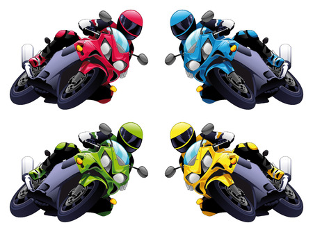 Set of Vector motorbikes Vector