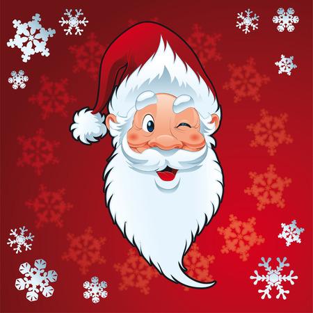 Santa Claus - Christmas vector and cartoon Card Stock Vector - 5450553