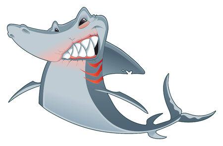 Shark, cartoon and vector character Vector