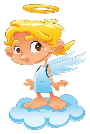 baby angel: Baby Angel, cartoni animati e vettore di carattere