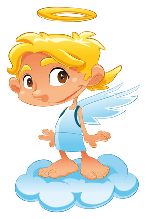 baby angel: Baby Angel, cartoon and vector character