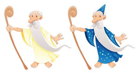 messiah: Due tipi di caratteri guidata, cartoni animati e vettoriale Vettoriali