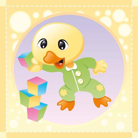 softly: Baby Bird, cartoon and vector illustration Illustration