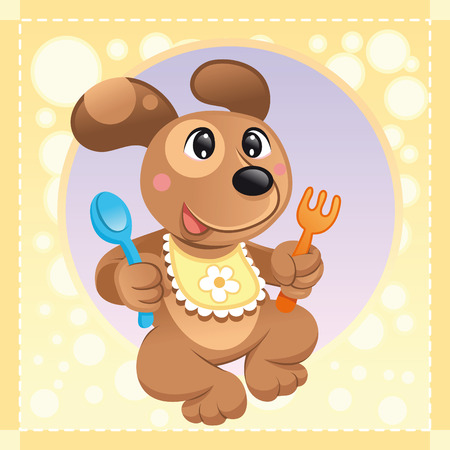 Baby Dog, cartoon and vector illustration Vector
