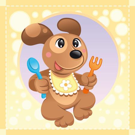 softly: Baby Dog, cartoon and vector illustration